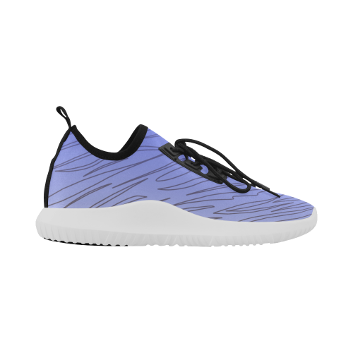 Running design shoes - Zebra wild ethnic blue Dolphin Ultra Light Running Shoes for Women (Model 035)