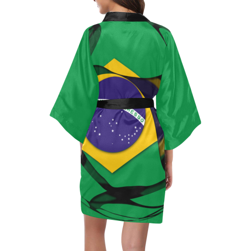 The Flag of Brazil Kimono Robe