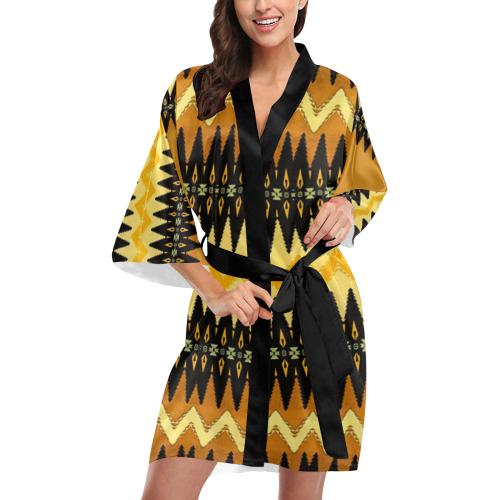 Native American Arrow Head Design Kimono Robe