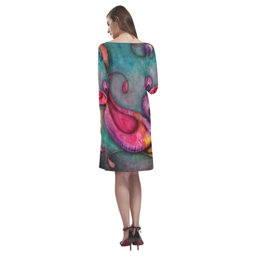 Rainbow Pods Rhea Loose Round Neck Dress(Model D22)