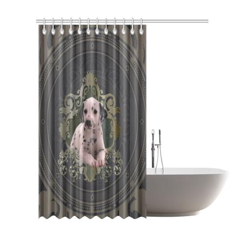 Cute Dalmatian Shower Curtain