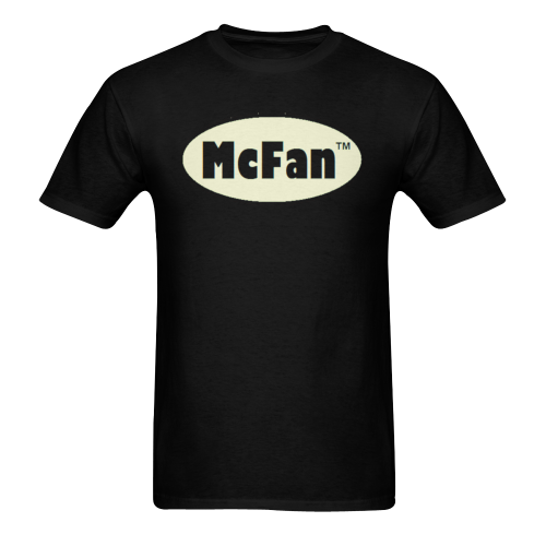 Mcfan - Logo - white oval Sunny Men's T-shirt (USA Size) (Model T02)