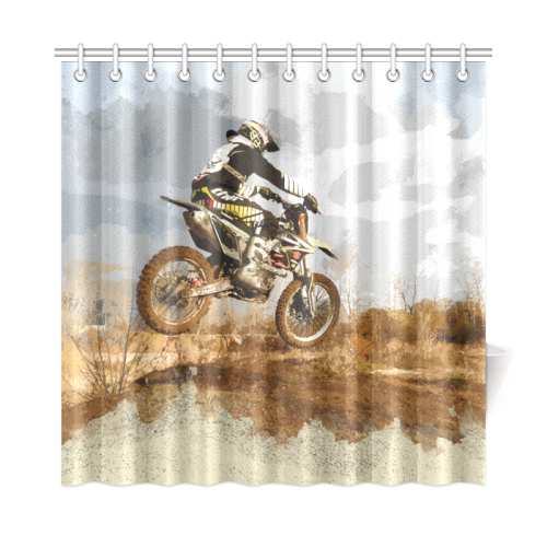 Bare Winter Trees On The Dirt Bike Trail Shower Curtain 72x72
