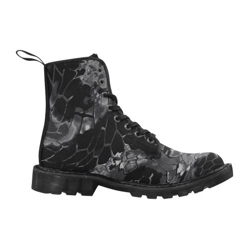 dark animal print design camouflage Martin Boots for Women (Black) (Model 1203H)