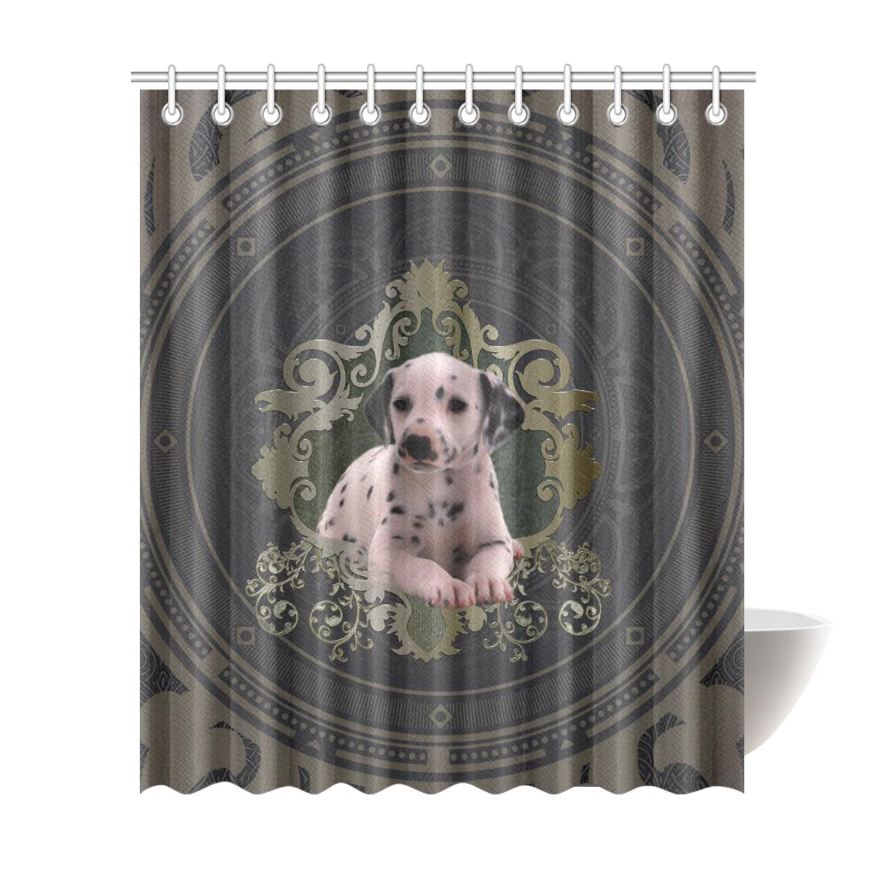 Cute Dalmatian Shower Curtain 72x84