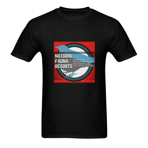 RED 5000X5000 Men's T-Shirt in USA Size (Two Sides Printing)