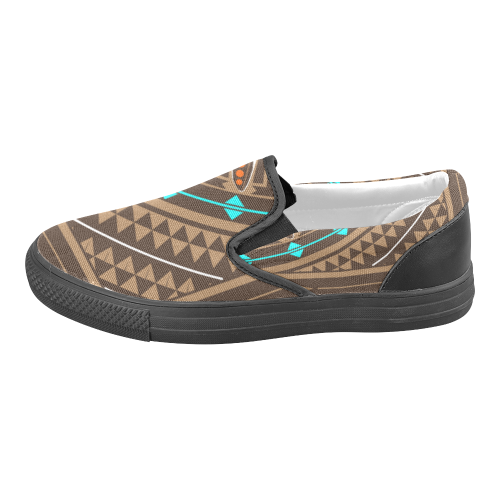 Wacipi Pow Wow Men's Slip-on Canvas Shoes (Model 019)