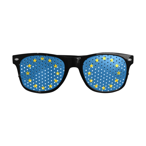 European Union Stars EU Flag Custom Sunglasses (Perforated Lenses)