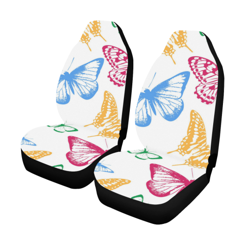 Colorful Butterflies Car Seat Covers Set Of 2