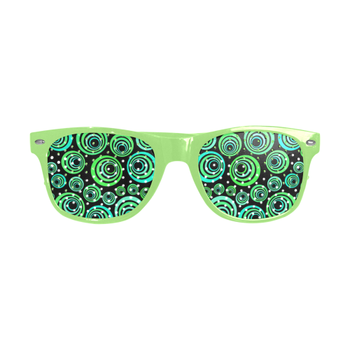 Crazy Fun Neon Blue & Green retro pattern Custom Goggles (Perforated Lenses)