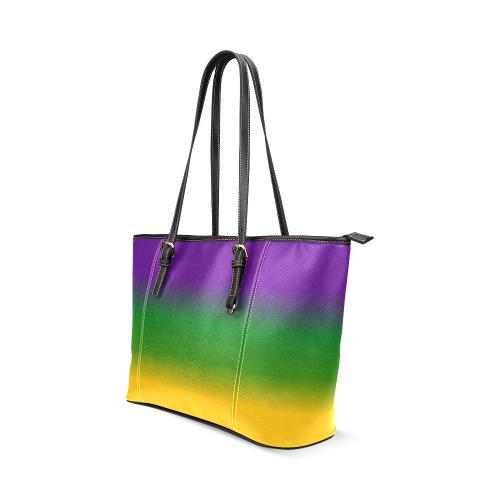 Mardi Gras Gradient 3597 Leather Tote Bag/Small (Model 1640)