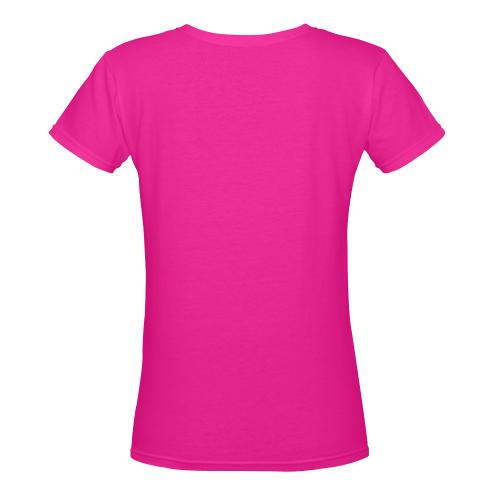 Sunny Sunflower - The Nature Is Shining Women's Deep V-neck T-shirt (Model T19)