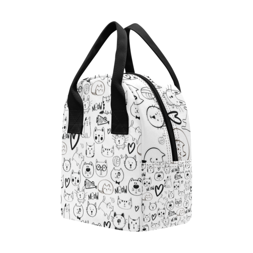 Meow Cats Insulated Zipper Lunch Bag (Model 1689)