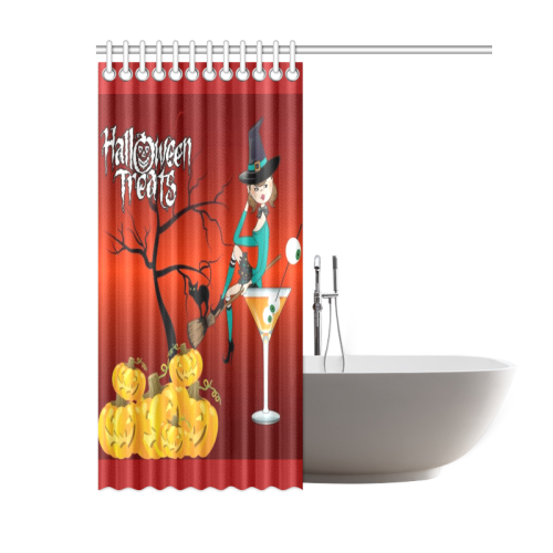Halloween Treats Witches Brew Shower Curtain
