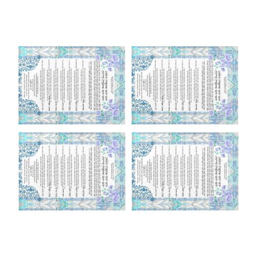 Ushpizin prayer-2 Placemat 14'' x 19'' (Four Pieces)