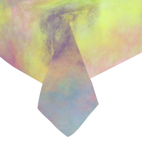 """Pastel Watercolor Cottonballs 9208 Cotton Linen Tablecloth 60""""x 84"""""""