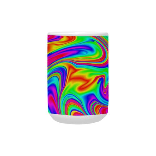 Psychedelic Rainbow Custom Ceramic Mug (15OZ)