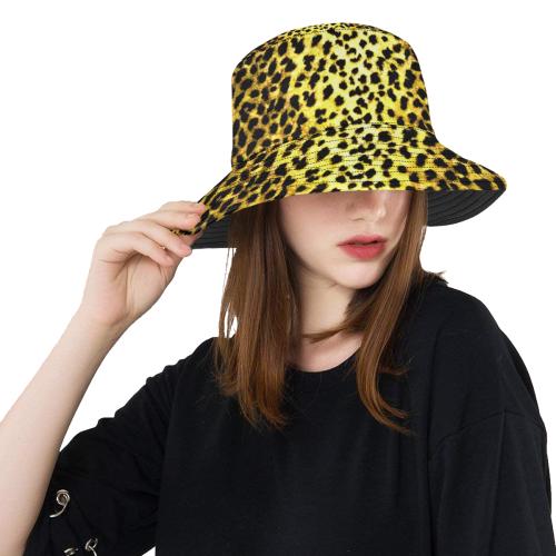 ecd522c963964 LEOPARD faux fur animal print All Over Print Bucket Hat