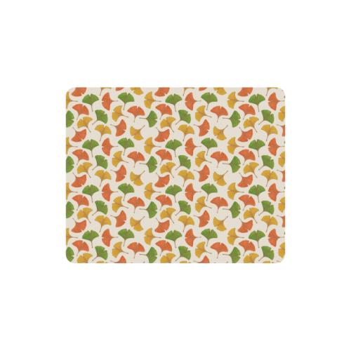 Fall ginkgo biloba leaves pattern Rectangle Mousepad