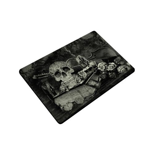 "Steampunk Alchemist Mage Roses Celtic Skull old Doormat 23.6""x15.7"""