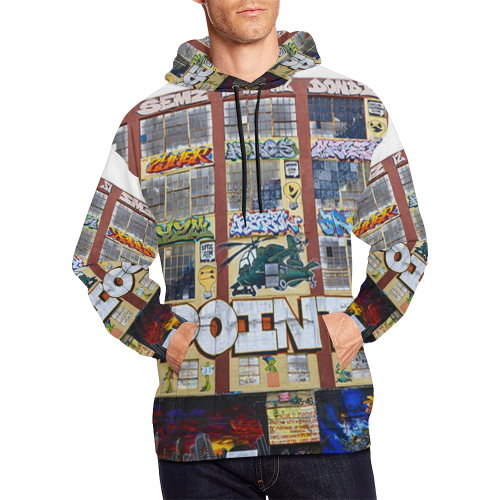 NY Graffiti Trance All Over Print Hoodie for Men (USA Size) (Model H13)