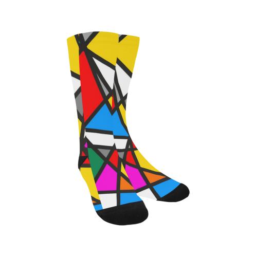 Mirror Popart by Nico Bielow Trouser Socks