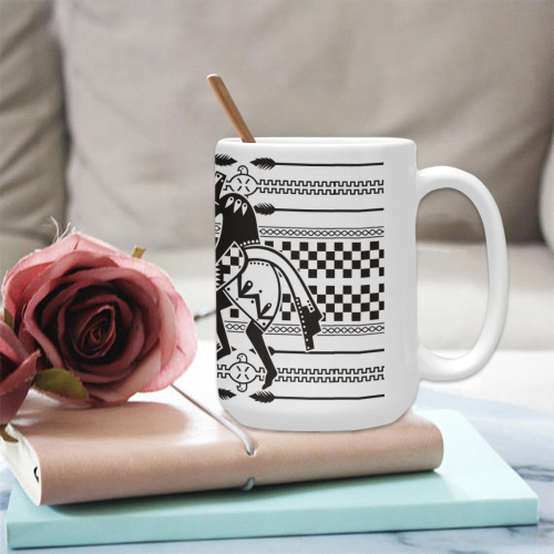 Native American Kokopelli Musicans - Modern Sun Ra Custom Ceramic Mug (15OZ)