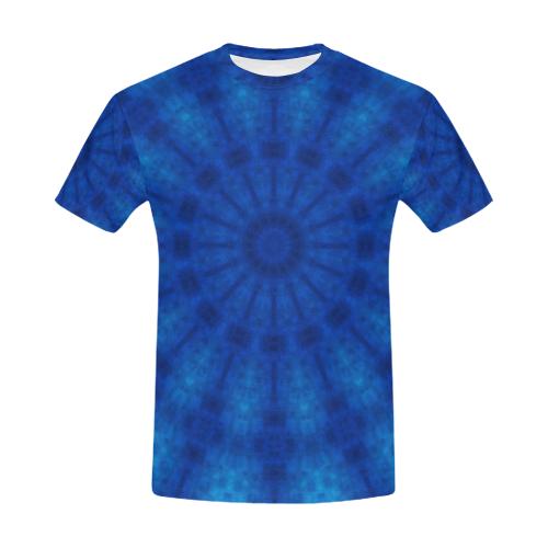 27c36962e612 3D Water Element Rave Mandala Tie Dye Crew Neck All Over Print T-Shirt for  Men (USA Size) (Model T40)