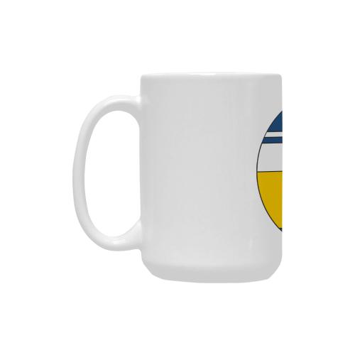 De Stijl Love The Blue Police Public Call Box 3 Custom Ceramic Mug (15OZ)