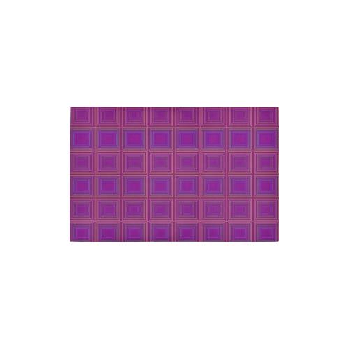 Purple Gold Multicolored Multiple Squares Area Rug 2 7 X 1 8 Id