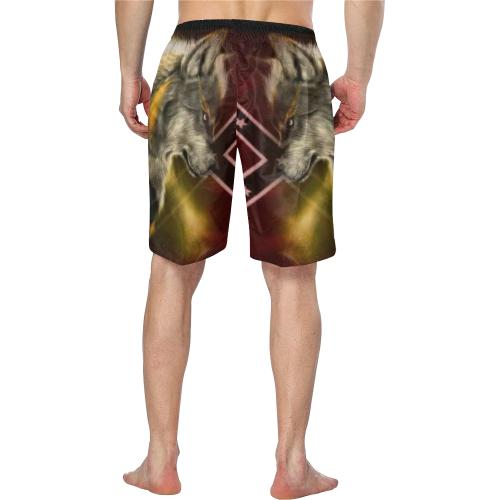 3774fb2edb rebel wolf Men's Swim Trunk/Large Size (Model L21) | ID: D2753685