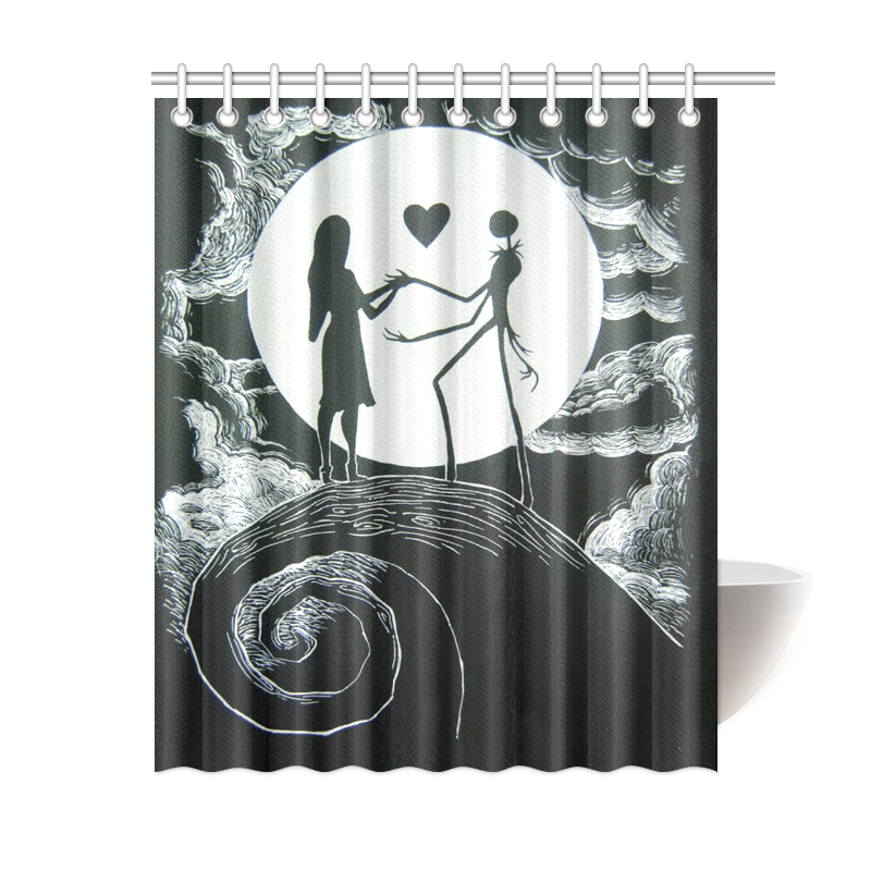 Image Is Loading Custom Bath Curtain The Nightmare Before Christmas Shower