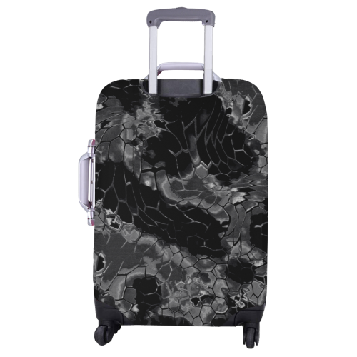 """night dragon reptile scales pattern camouflage in dark gray and black Luggage Cover/Large 26""""-28"""""""