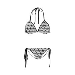 5da6edee027 Black Background Stormtrooper Helmet Print String Bikini Custom Bikini  Swimsuit