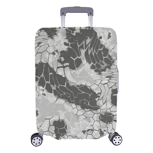 "stonedragon reptile scales pattern in light gray Luggage Cover/Large 26""-28"""