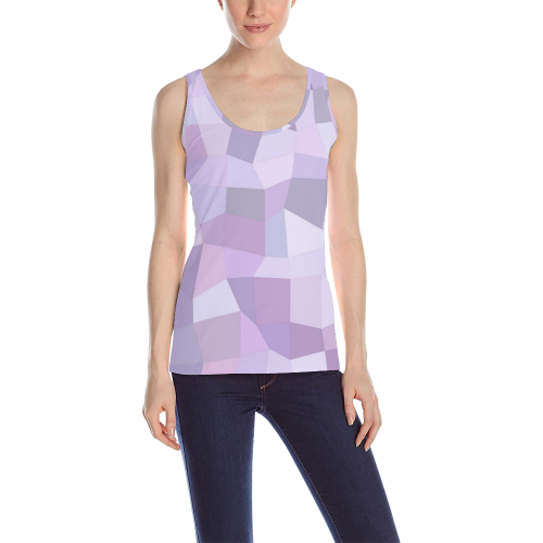 3186eab101523 Pastel Purple Mosaic All Over Print Tank Top for Women (Model T43 ...