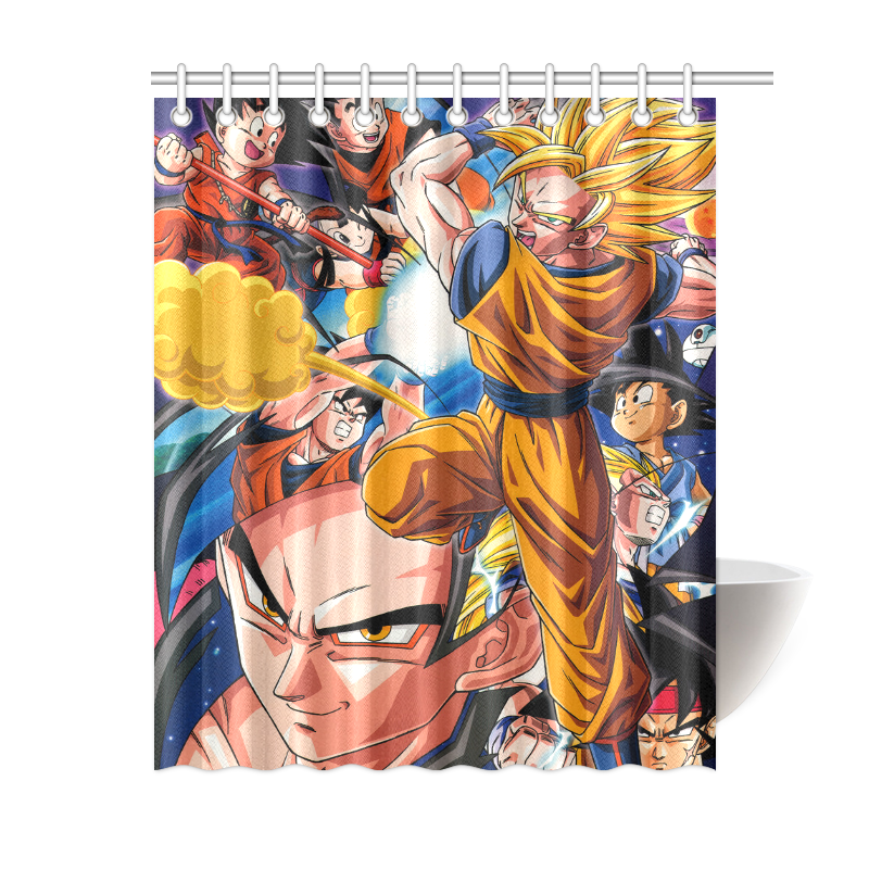Image Is Loading Custom Dragon Ball Z Shower Curtain 60 X