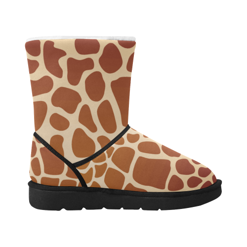toppers animal print BOOTS 2 Unisex Single Button Snow Boots (Model 051)