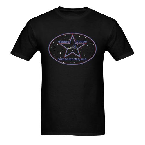GM Rev, Inc. - logo - Glow Sunny Men's T-shirt (USA Size) (Model T02)
