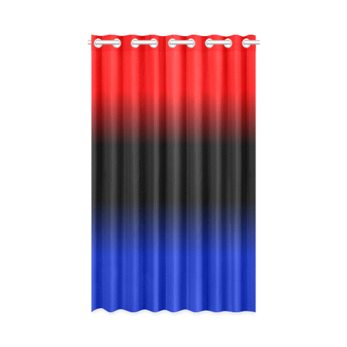 "Red, Black and Blue Gradient New Window Curtain 50"" x 84""(One Piece)"
