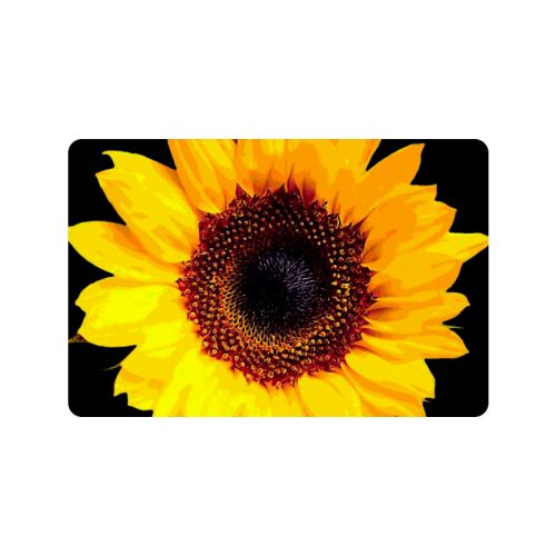"Sunny Sunflower - The Nature Is Shining Doormat 23.6""x15.7"""
