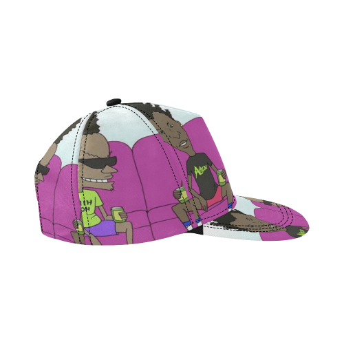 B & B by CT All Over Print Snapback Hat D