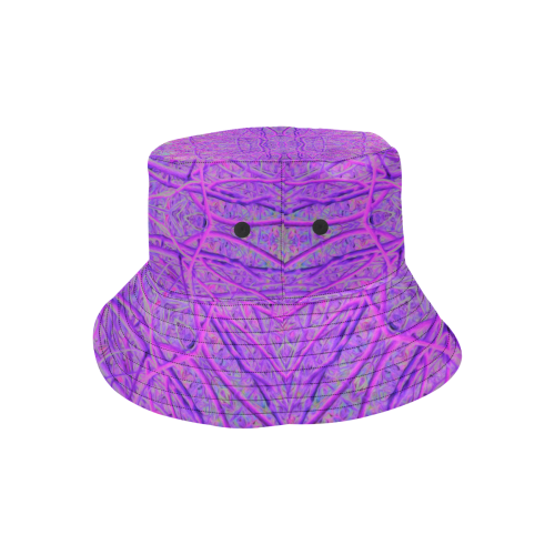 30bf0dafc72d2 ... Hot Pink and Purple Abstract Branch Pattern All Over Print Bucket Hat  ...