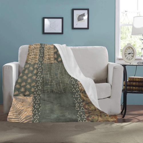 "Green Golden Python Ultra-Soft Micro Fleece Blanket 40""x50"""