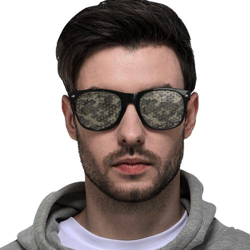 Camo Grey Custom Sunglasses (Perforated Lenses)