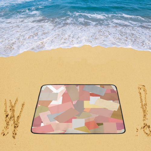 """Coral Blocks 5050 Beach Mat 78""""x 60"""""""