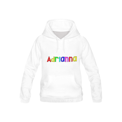 Adrianna - letter rainbow All Over Print Hoodie for Kid (USA Size) (Model H13)