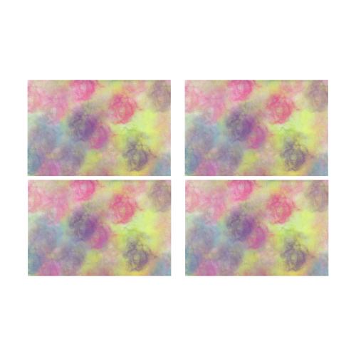 Pastel Watercolor Cottonballs 9208 Placemat 12'' x 18'' (Four Pieces)