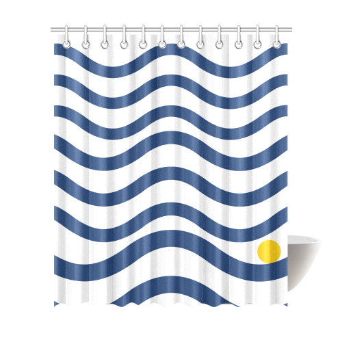 Ripple 001 Shower Curtain 72x84