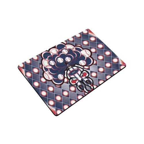 """SkullySpray NYC Doormat Doormat 24""""x16"""" (Black Base)"""